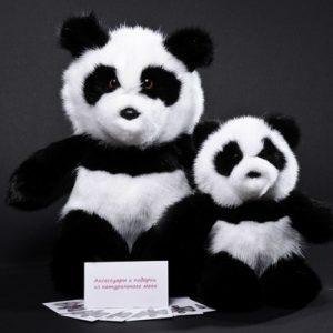 Дизайнерские игрушки из меха мишка панда
