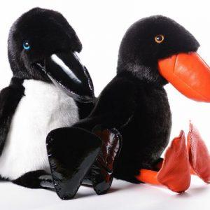 Дизайнерские игрушки из меха ворона