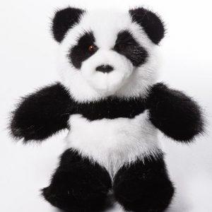 Дизайнерские игрушки из меха медведь Панда
