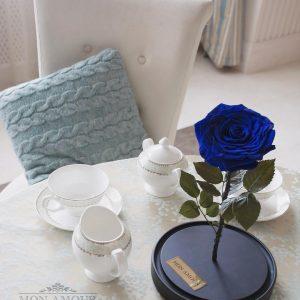 Роза в колбе King синяя