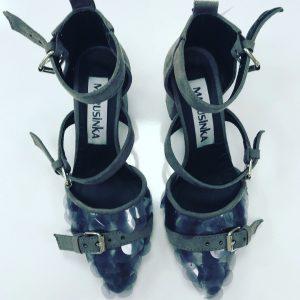 Женские туфли пайетки и ремни