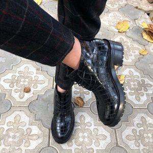 Женские ботинки крокодил