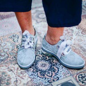 Женские туфли эко-замш цвет Tiffany
