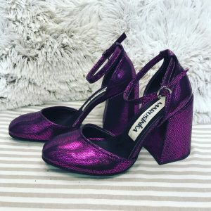 Женские туфли лазерные фиолет