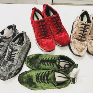 Женские кроссовки эко-замш (красный, бежевый, зеленый, серый)