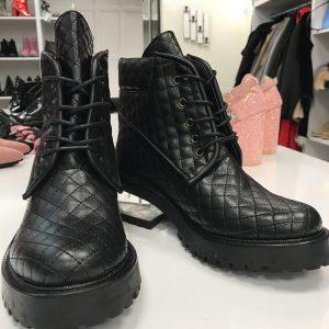 Ботинки женские стеганные