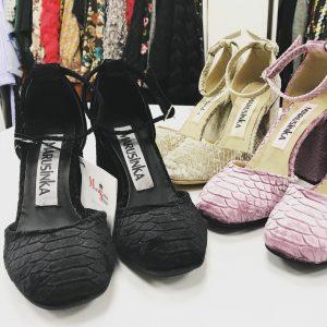 Женские туфли под рептилию