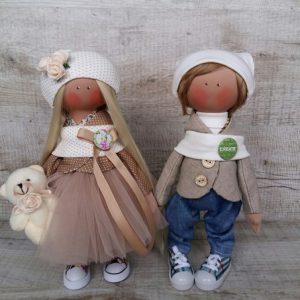 Дизайнерская кукла ручной работы в берете