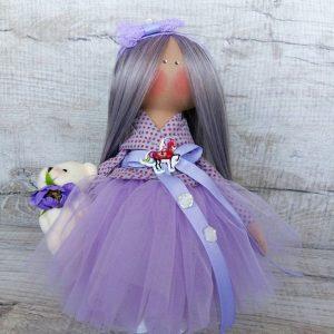 Дизайнерская кукла ручной работы в фиолетовом