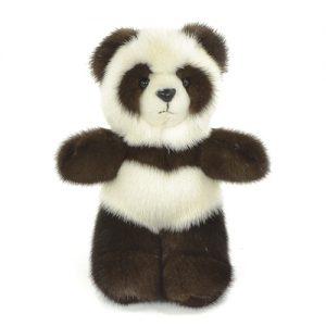 Дизайнерские игрушки из меха мишка панда коричневая
