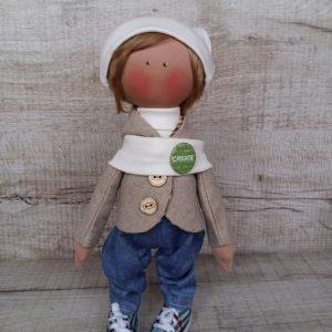 Дизайнерская кукла ручной работы мальчик