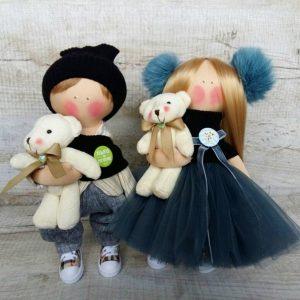 Дизайнерская кукла ручной работы блондинка