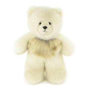 Дизайнерские игрушки из меха медведь белый