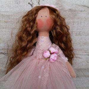 Дизайнерская кукла ручной работы рыженькая
