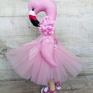 Дизайнерская кукла ручной работы фламинго