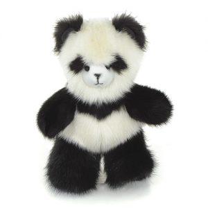 Брелок из меха мишка норковый панда жемчужный