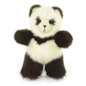 Брелок из меха мишка норковый панда