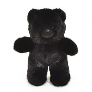 Дизайнерские игрушки из меха медведь черный