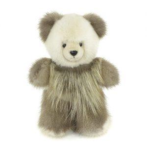 Дизайнерские игрушки из меха мишка вставки из лесы