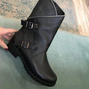 D$ Женские ботильоны на меху черные