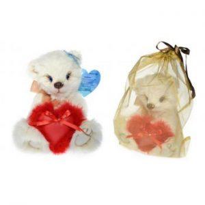 Игрушка из натурального меха кролика с сердечком