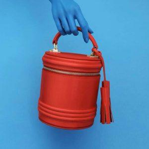 Женская сумка ручной работы красная
