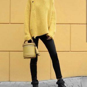Женская сумка ручной работы желтая