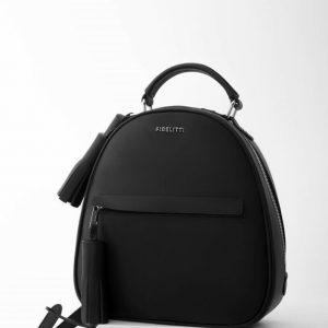 Женский рюкзак с паетками черный