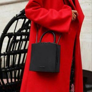 Женская сумка квадратная черная