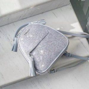 Женский рюкзак блестящий