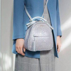 Женский рюкзак с глиттерными блёстками