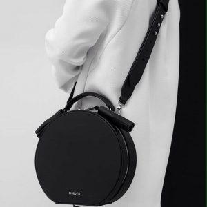 Женская сумка из итальянской кожи черная