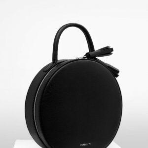 Женская сумка круглая черная