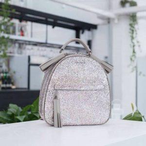 Женский рюкзак кожаный блестящий