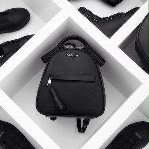 Женский рюкзак кожаный черный