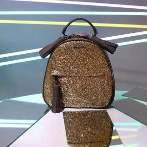 Женский рюкзак золотистый