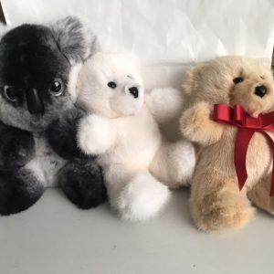 Игрушки из натурального меха животные