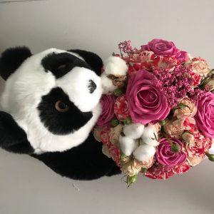 Меховые игрушки мишка панда