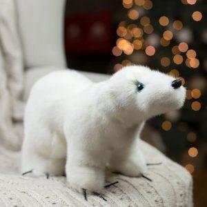 Игрушка из норки мишка белый северный
