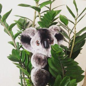 Игрушки из меха коала серебряная