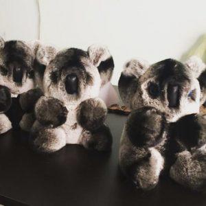 Игрушки из меха коала серебряная 2