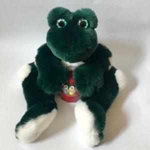 Игрушки из меха лягушка зеленая
