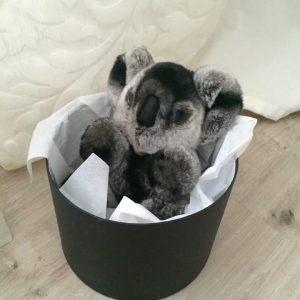Кролик рекс игрушка коала темно-серая