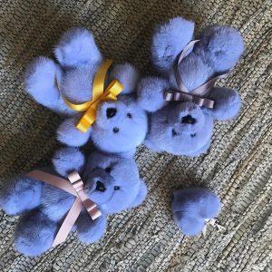 Норковая игрушка мишки синие