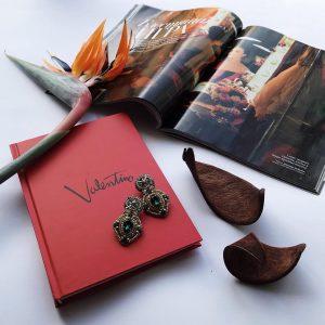 Записная книжка в стиле Valentino алая ручной работы