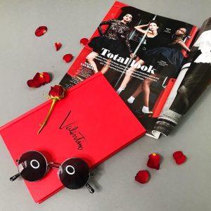 Ежедневник в стилеВалентино ярко-красный эксклюзивный