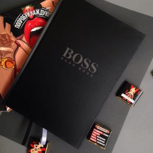 Блокнот Hugo Boss чёрный женский