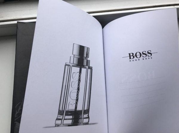 Блокнот Хуго Босс черный подарочный (4)