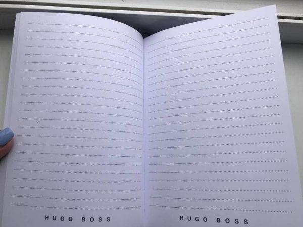 Записная книжка Хуго Босс черная закладка-лента (1)