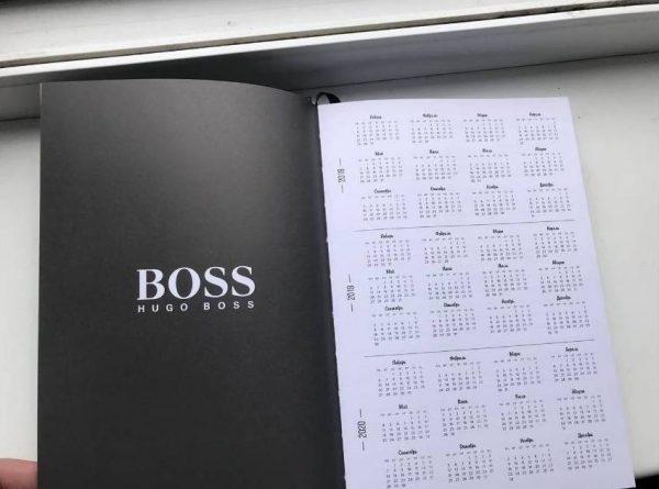 Записная книжка Хуго Босс черная закладка-лента (2)